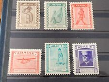 6 POSTER STAMPS GERMANY ABADIE CIGARETTES MILITARY WAR ZEPPELIN KROQUET f. 1913