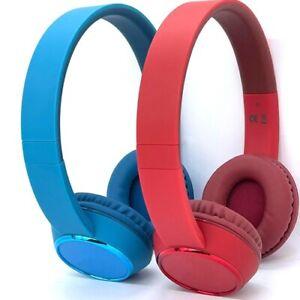 Over Ear Headphones Bluetooth Wireless + Microphone On Ear Headset UK