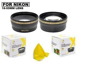 Wide Angle & Telephoto Lens for Nikon D5500 D5300 D5200 D5100 D3300 D3200 D3100