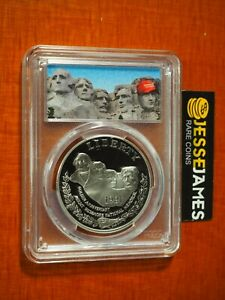 1991 S $1 PROOF SILVER MOUNT RUSHMORE DOLLAR PCGS PR69 DCAM TRUMP MAGA LABEL