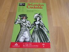 The LONDON Cuckolds NT on Tour 1998 Original SHEFFIELD Lyceum Theatre Poster