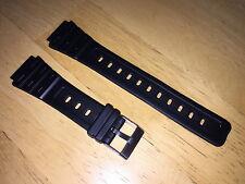 TOP! Kunststoffarmband für CASIO W-59-1, schwarz, 18mm, Metallschließe