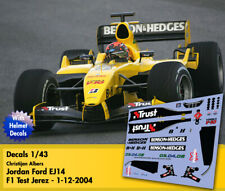 Decals 1/43 - F1 - Albers - Jordan Ford EJ14 - Test 2004