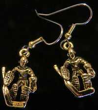 Ice Hockey Goalie Earrings Skate Skates 24 Karat Gold Plate