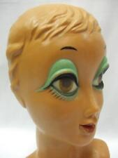Vintage Mannequin Head Twiggy 1970s 1960s Collectable ex Display