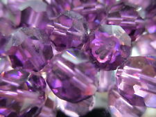 V776--50 Vintage Swarovski Machine Cut Faceted Amethyst 9mm Glass Beads