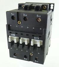 ABB B75 Leistungsschütz Schütz Contactor 37kW bei 400V 125A Spule 220/230V 50Hz