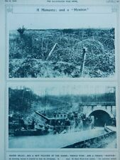 1916 FRENCH BARBED WIRE FROM THE MARNE; MONITOR CANAL GUNBOAT SOMME WWI WW1