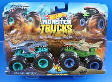 Mattel Hot Wheels FYj 65 Monster Trucks Mega-Wrex Vs. Leopard Shark