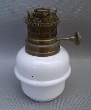 Ancienne pied de lampe à pétrole en opaline déco vintage french antique lampe