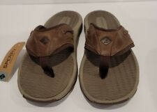 Sperry Topsider  Flip Flop Brown Sandals Thong Sonora Mens Size 10