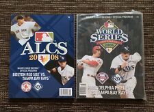 NEW 2-LOT 2008 Tampa Bay Rays Baseball: World Series and ALCS Official Programs