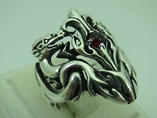 Turkish Handmade Jewelry 925 Sterling Silver Garnet Stone Men's Ring Sz 9