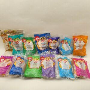 McDonalds 1999 Happy Meal TY Teenie Beanies Complete Set of 12 Sealed w/ Bag