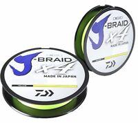 Daiwa J-Braid X4 Braided Fishing Line - 150 Yards Fluorescent Yellow Line