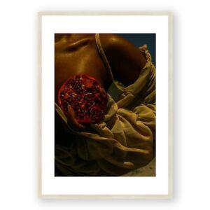 Female Nude Art , Pomegranate Print , Nude Art Prints , Woman Photography