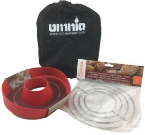 Omnia Campingbackofen Set mit Aufbackgitter u. Silikonform Toaster