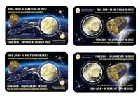 2 * 2 Euro GDM BELGIEN 2018 Coincard (NL & FR) 50. Jahrestag Satelliten ESRO-2B