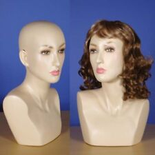 "Brand New 16"" Flesh Tone Female Mannequin Head 111N"