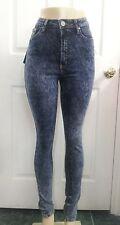 High Waist & Rise ACID Wash Skinny Jeans Mineral retro 80's Denim pants Y267 268