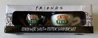 NEW Friends TV Show Ceramic Salt and Pepper Shaker Mugs Set Central Perk