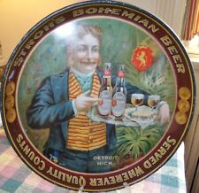 Stroh's, pre-prohibition beer tray, 1910 Detroit, Mich.