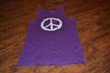 A9- The Children's Place Purple Peace Sign Tank Size L (10/12)