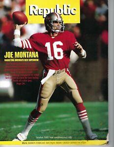 1985 Republic magazine football Joe Montana San Francisco 49ers VG  scarce!