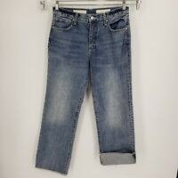 Pilcro and the Letterpress Anthropologie Folio Jeans High Rise Relax Crop Sz 29