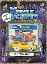 Muscle Machines White Tire '71 Chevrolet Camaro Yellow Chase 1/1496 Limited 1971