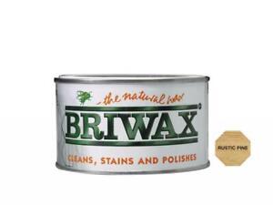Briwax Natural Wax Polish - Colours Clear, Brown, Pine, Teak, Oak, Walnut,