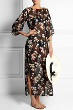 Tory Burch Silk Caftan Cover Up Dress Silk Maxi Solaro S 4 6 Chifon NWT