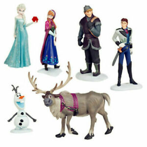 6pc Frozen Princess Cake Toppers Elsa Olaf Anna Figures Set Disney Toy Topper UK