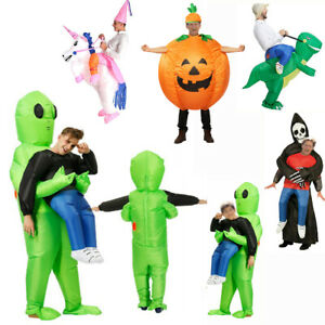 Adult Inflatable Fancy Blowup Funny Dress Costume Xmas Halloween Party Fat Suits