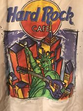 OLDER-Collectible Hard Rock Café New York T-Shirt With World Trade Center, large