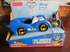 NEW Fisher Price Little People Super Friends Batman Batmobile sounds talking DC