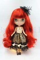 "New 12"" Neo Blythe Doll from factory Long Dark Red Curly hair for DIY Gift  Toy"