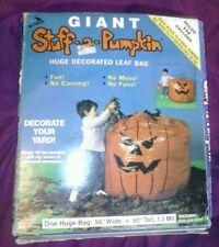 1989 GIANT STUFF A PUMPKIN LEAF BAG Halloween Sealed  NEW IN BOX 25 YEARS OLD!!!