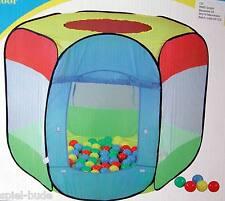 Buntes Bällebad Zelt Spielzelt incl 100 Bälle in Sekunden aufgebaut auch Aussen