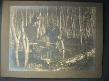 PHOTO ANCIENNE MACHINE A BOIS FORET OUTILS VINTAGE BUCHERON