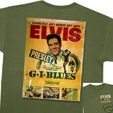 ELVIS PRESLEY ~ G I BLUES POSTER  GREEN T-SHIRT XXL