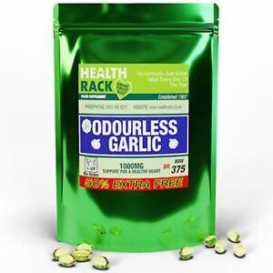 Garlic Capsules Odourless 375 Capsules 1000mg | Healthy Heart & Immune System