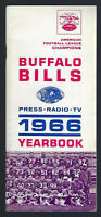 VINTAGE 1966 AFL NFL BUFFALO BILLS FOOTBALL MEDIA PRESS GUIDE - JACK KEMP