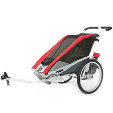 Chariot Thule Cougar 2 Kids Baby Bike Tailer RED includes Bike Kit