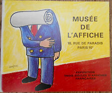 """FRENCH POSTERS"""" MUSEE DE L'AFFICHE""""~ 17-20th Century~OUT OF PRINT-RARE~in French"""