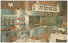 Millers Smorgasbord Lancaster PA Amish Dutch Restaurant Buffet Interior Postcard