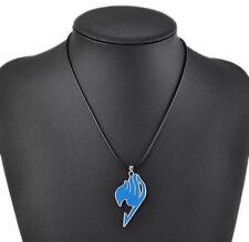 Fairy Tail Anime Natsu Dragneel Guild Pendant Necklace Blue US Seller