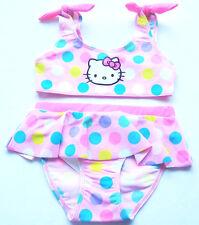 Bikini Gr.122 /128 H&M NEU m.E Hello Kitty rosa pink Punkte Rüsche Herzen Set