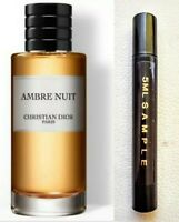 Christian Dior AMBRE NUIT EDP 5ML Atomiser Sample DISCONTINUED FREE Postage