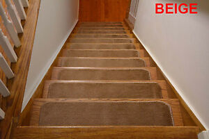 """Comfy Soft Indoor Skid Slip Resistant Stair Treads Your Choice of Set (8.5""""x30"""")"""